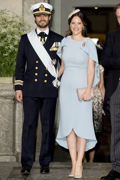 Prince Carl Phillip of Sweden was accompanied by his wife Princess Sofia for today's cerem...