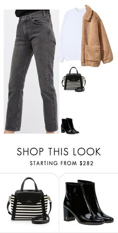 """""""Untitled #2160"""" by tayloremily218 on Polyvore featuring Kate Spade, Yves Saint Laurent, Stussy and H&M"""