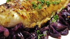 Savory halibut filets are marinated in olive oil, lemon juice, basil ...