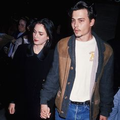 """""""Silence of Lambs"""" Premiere - February - 00002 - Winona Forever Photo… Winona Ryder, Johnny Depp And Winona, Young Johnny Depp, Johnny Depp Pictures, Winona Forever, Joker And Harley, My Youth, Favorite Person, Celebs"""