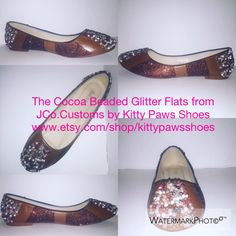 A personal favorite from my Etsy shop https://www.etsy.com/listing/452519170/the-cocoa-beaded-glitter-flats-from