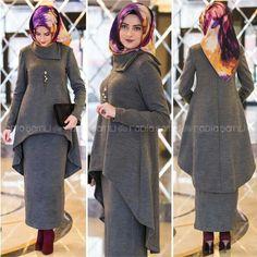 Perfect for winter Islamic Fashion, Muslim Fashion, Modest Fashion, Girl Fashion, Fashion Outfits, Womens Fashion, Hijab Dress Party, Hijab Outfit, Hijab Style