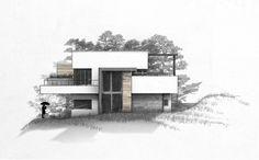 Villa Mansion Drawing Design #modernearchitektur #innenarchitektur  #zeichnung #Ansichten #handzeichnung #coffein #concepts #Wohnzimmer #Skizze  #sketch ...