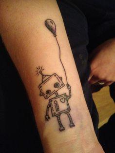 Robot Balloon Heart