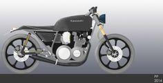 My design for a Kawasaki Gpz750 82' Cafe racer!