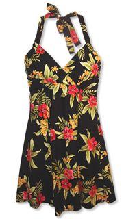 Napali Blacksand Hawaiian Dress
