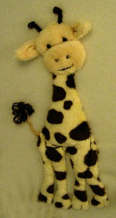 Giraffe - this would be so cute on a baby blanket