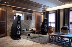 awesome setup with LAWRENCE AUDIO's flagship – The Eagle. A reference class, ful… – ohmoli – Audioroom Sound Room, Room Acoustics, Home Speakers, Audio Room, Master Room, Hifi Audio, Home Cinemas, Living Room Sets, Audiophile
