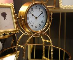 #homedecor #interiordesign #inspiration #decoration #decor #watch London Clock, Recycled Brick, Desktop Clock, Brick Molding, White Clocks, Tabletop Clocks, Gold Hands, Alarm Clock, Mercury