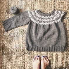 Lovely sweater progress shared from @monsharris. In Chickadee. #quincechickadee #quinceandco