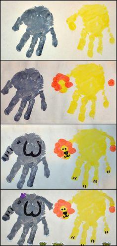 zoo animal crafts   Gummy Lump Toys Blog: Handprint Zoo Animals #Kids #Craft