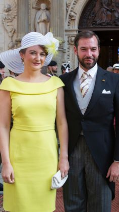 theroyalfanzine:  Luxembourg National Day 2015, June 23, 2015-at the Te Deum-HGD Stéphanie and HGD Guillaume