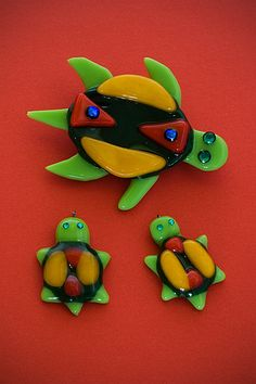 fused glass turtle | Fused Glass Tortoise (SOLD)