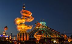 #Disneyland Paris. Orbitron and Space Mountain in Discoveryland #DLP #DLRP #Disney