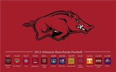 Hogs Schedule on desktop wallpaper                  Woooooooooo, Pig ! Sooie!