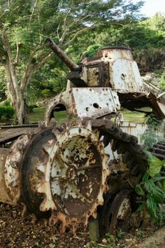 An abandoned WWII Japanese Tank