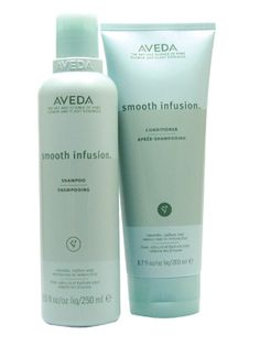 Aveda Smooth Infusion shampoo and conditioner.  Perfect hair care for humid or very cold weather.  Stop fly-ways and frizzing on smooth and layered hairstyles.