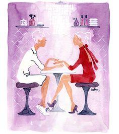 Nails & Sales, editorial illustration for NailPro november issue.