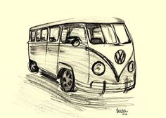 Travel, Drawing, Art, VW