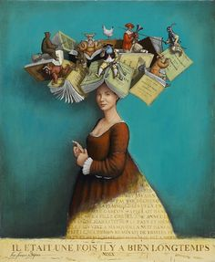 """books0977:  Storyteller.Jean-François Segura (1955-). """"Storytelling wasn't about making things up. It was more like inviting the stories to come through her, let themselves be told.""""― Jennifer McMahon, Don't Breathe a Word"""