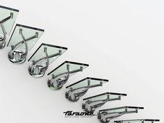 Escalera volada de acero inoxidable y vidrio TWIN Colección Escaleras by FARAONE | diseño Roberto Volpe