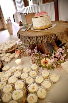 Rustic Wedding Cake Display