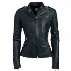 Allie Womens Leather Jacket