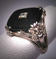 Antique Diamond Wedding Ring Vintage Art Deco by AawsombleiJewelry, $985.00