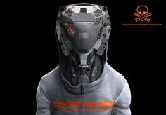 Artwork by Chris Holland - Valhallan Nebula Cyberpunk, Futuristic Technology, Futuristic Design, Futuristic Helmet, Robot Design, Helmet Design, Zbrush, Character Concept, Concept Art