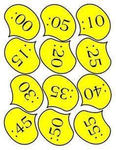 "Flower Clock for Decoration and Teaching Time by Anna ""Banana"" Jackson - The Doodle Mom Classroom Displays, Math Classroom, Kindergarten Math, Classroom Organization, Teaching Clock, Teaching Time, Teaching Math, Maths, Math Resources"
