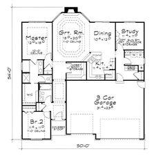 European House Plan 66583 Level One