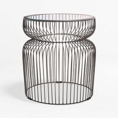 Spoke Glass Graphite Metal End Table + Reviews | Crate and Barrel Marble End Tables, Metal End Tables, Glass End Tables, Modern Side Table, Side Tables, Small Living Room Furniture, Unique Furniture, Custom Furniture, Crate And Barrel