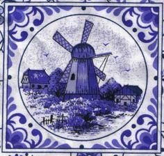 Windmill on Delfts blue