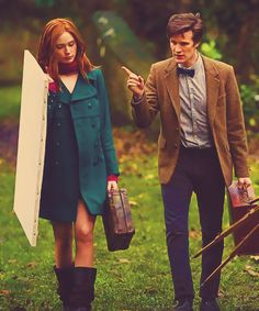 Amy Pond and the Doctor in Vincent and the Doctor. Ya know if we did have kid they would have REALLY red hair. Yeah the ultimate ginger. Hehe the ultimate ging.