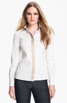 St. John Collection Stretch Poplin Shirt available at Nordstrom