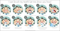 In this post, we will be sharing the specific steps of brushing teeth for children using a brushing teeth chart and 3-part cards.