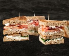 Club Florentine Cheddar, Sushi, Bacon, Sandwiches, Lunch, Club, Ethnic Recipes, Food, Fast Recipes
