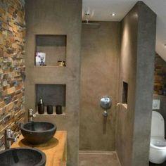 Duvarlarınızı Güzelleştirecek Niş Modelleri-50 Adet   Evde Mimar Diy Bathroom, Concrete Bathroom, Small Bathroom, Master Bathroom, Bathroom Lighting, Bad Inspiration, Bathroom Inspiration, Desk Goals, Craft Rooms