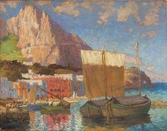 Marina Grande, Capri by Konstantin Gorbatov (Stavropol 1876 – Berlin 1945)