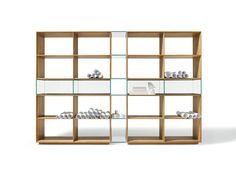 Great Shelving Unit Design Idea with Rectangular Shape and Wood and Glass Shelves Idea also Can be Alternative for Room Dividers