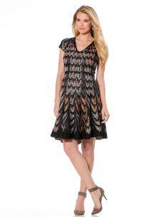 BCBGMAXAZRIA Cap Sleeve Fit And Flare Maternity Dress
