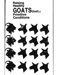 Raising Healthy Goats in Primitive Conditions