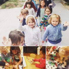 Our first #naturewalk of the #schoolyear! The #sprouts did an awesome job collecting #autumn items and practiced their #gluestick #skills to boot. #bijakids #preschool #wholechild #lifeskills