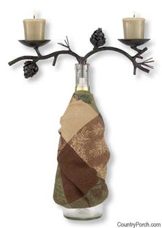 Pine Lodge Wine Bottle Topper available @ CountryPorch.com