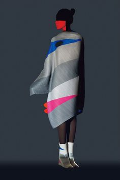 Japanese fashion label Issey Miyake has released its second collection featuring graphics created by influential designer Ikko Tanaka.