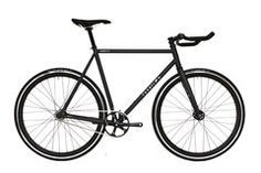Matte Black Fixed Gear Bicycle