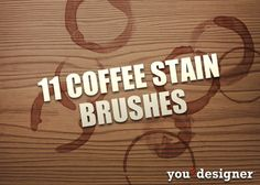 11 Coffee Stain Brushes by YouTheDesigner