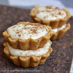 Cinnamon Roll Quest Bar Pies................. each little one providing 10 grams of protein in a perfectly snackable 100 calories.