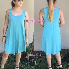 Perfect Tank Dress Summer tank dresses in a gorgeous Nile blue color...price is firm. S(2/4) M(6/8) L(10/12) Dresses