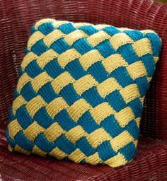 Entrelac pillow.  I like this one. :)